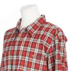 Oakley Red Gray Plaid Flannel Vented Outdoor Shirt